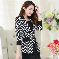 7684 New Women's Suit Tops Slim Striped OL One Button Blazer Jackets Coats gift