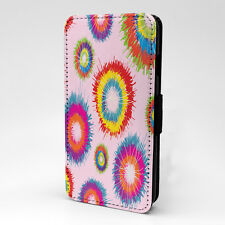 Colourful Circles Print Design Pattern Flip Case Cover For Apple iPhone - P147