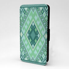 Aztec Art Print Design Pattern Flip Case Cover For Apple iPhone - P523