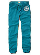New Hollister By Abercrombie Women's Sweatpants Turquoise Nwt