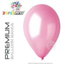"PARTYPRO® - PINK (BABY) - 12"" PREMIUM PEARL / METALLIC BIRTHDAY PARTY BALLOONS"