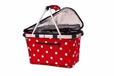 """D-LINE """"SHOP & GO"""" INSULATED CARRY COOLER BASKET DOUBLE HANDLE WITH LID"""