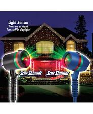 Outdoor Christmas Light Show Yard Motion Laser Flurries Stake Projector Decor