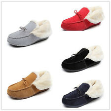 Winter Women's Suede Flats Shoes warm thick cotton Shoes Casual Moccasins