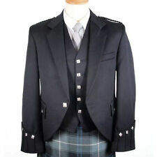 UK STOCK= SCOTISH ARGYLE KILT JACKET WITH FREE WAISTCOAT/PARTY DRESS/WEDDING DER