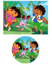 Dora and Diego Edible Party Cake Image Cupcake Topper Frosting Icing Sheet