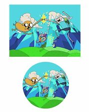 Adventure Time Edible Party Cake Image Cupcake Topper Frosting Icing Sheet
