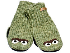 New Knitwits Oscar Green Unisex Mittens