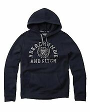 Nwt Abercrombie & Fitch By Hollister Men's Graphic Logo Hoodie Navy 2016 New