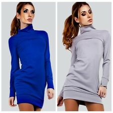 Women Sexy Long Sleeve Bandage Bodycon Evening Party Cocktail Turtleneck Dress