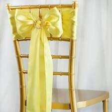 100/PK ~NEW~ Satin Chair Sash Bow Wedding Party Banquet 20+ Colors!