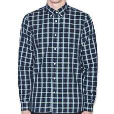 Fred Perry Herringbone Gingham LS Shirt Mid Blue