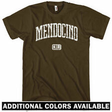 Mendocino California T-shirt - Men S-4X - Gift County Surf Surfing Headlands CA