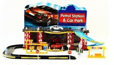 Childs Garage Petrol Station Parking Toy Car Park Vehicle Road Signs Play Set. H