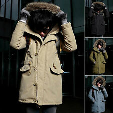 Mens Fashion Winter Warm Thicken Hoodie Coat Outerwear Padded Windbreaker Jacket