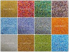 50g Glass Seed Beads, Transparent Rainbow, (size 11/0) Approx 2mm - Crafts