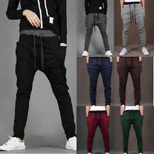 Mens Baggy Harem Pants Sweat Sports Hip-hop Dancing Casual Trousers Sweat Pants