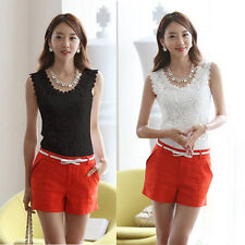 Sexy Women Ladies Lace Tank Top Sleeveless T-shirt Vest Camisole Blouse Tee Tops