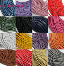 5M Real Leather Round Rope String Cord Necklace Jewelry Finding Craft 15Colors