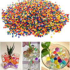 US 500pcs Water Plant Flower Jelly Crystal Soil Mud Water Pearls Gel Beads Balls
