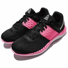 Reebok ZPrint Run Neo Black Pink White Womens Running Shoes Sneakers BD1194
