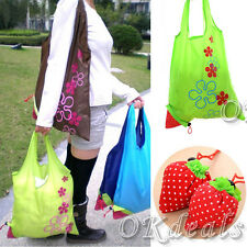 Hot Sale Eco-friendly Storage Handbag Strawberry Foldable Reusable Shopping Bags
