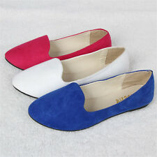 Comfy Hot Womens Boat Shoes Casual Ballet Slip On Flats Loafers Single Shoes