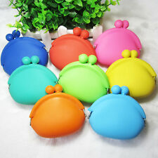 Fashion Silicone Frog Design Coin Purse Card Rubber Key Phone Bag Pouch Wallets