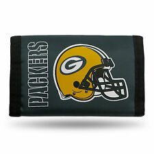 Green Bay Packers Tri-Fold Nylon Wallet (One-Size)
