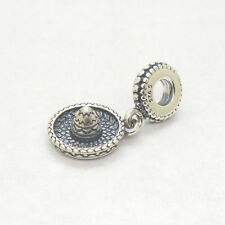 Authentic Genuine S925 Sterling Silver Mexican Sombrero Hat Dangle Charm