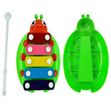 1Set 5-Note Xylophone Musical Beetle Toy Baby Kids Wisdom Developmental Toys