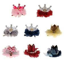 Phenovo Baby Girl Child Hair Clip Crown Flower Bow Hairpin Accessories Headwear