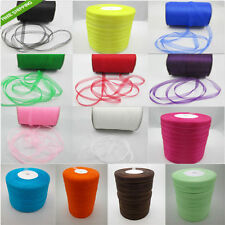 "1Roll-50 Yards 3/8"" 9mm Satin Edge Sheer Organza Ribbon Bow Craft DIY B154S"