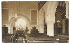 BRAMDEAN St Michael & All Angels Church Interior, RP Postcard Postally Used 1914
