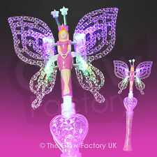 Flashing Fairy Princess Wand LED Light Up Glow Fairies With Wings