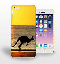 Kangaroos Sea Sunset Silhouette Printed Phone Case Cover for mobile phone