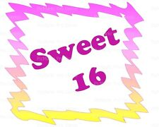Sweet 16 Birthday ~ Frosting Cake Topper ~ Edible Image ~ D21831