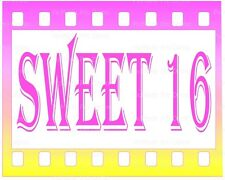 Sweet 16 Birthday ~ Frosting Cake Topper ~ Edible Image ~ D21832