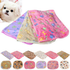 Cat Dog Puppy Pet Small Large Paw Print Soft Blanket Bed Cushion Coral cashmere