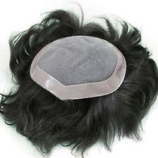 Majik THIN SKIN SUPER SOFT PU MEN HUMAN HAIR TOUPEE HAIRPIECE REPLACEMENT!