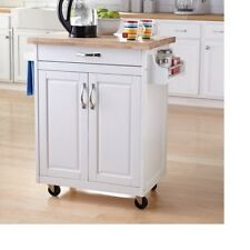 Kitchen Island Cart Cabinet Buffet Furniture Storage Cutting Board Rolling Table