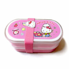 [Sanrio]Hello Kitty Bento Pink Double Lunch Box Case Frozen Lunch Box Plastic