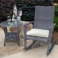 Tortuga Outdoor Bayview Rocking Chair and Side Table. Brand New
