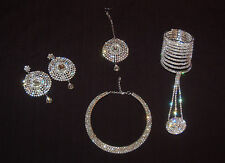 5pc Silver Crystal Diamante Bridal Wedding Party Jewellery Set-variations  New