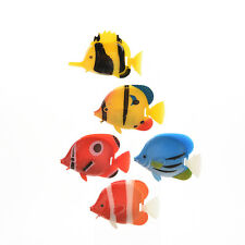 2/5 X Aquarium Tank Plastic Artificial Swimming Fake Fish Ornament Decoration