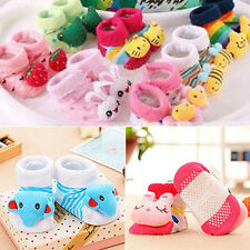 Newborn Baby Anti Slip Cotton Socks Boots Shoes Cute Cartoon 0-12 Months Perfect