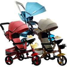 Buy Kid Trike Bike SP92 Stroller Tricycle Pram With Music Push Ride Pushchair