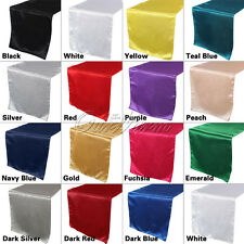 "20X Satin 12"" x 108"" Table Runner For Wedding Party Birthday Banquet Table Decor"