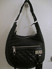 EUC L.A.M.B. Lucille By Gwen Stefani Black Leather Quilted hobo
