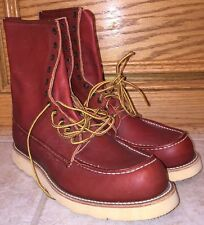 VTG MENS IRISH SETTER BY RED WING WORK LEATHER BROWN BOOTS size 10C